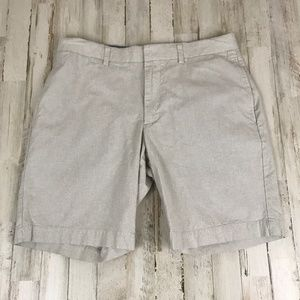 Banana Republic Mens Shorts 32 Beige Microstriped
